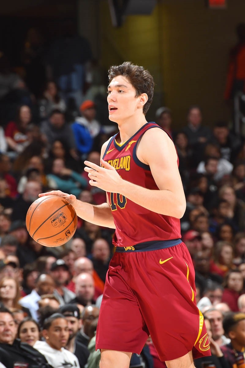 Cedi Osman #16 of the Cleveland Cavaliers handles the ball against the Philadelphia 76ers on December 9, 2017 at Quicken Loans Arena in Cleveland, Ohio. (Getty Images)