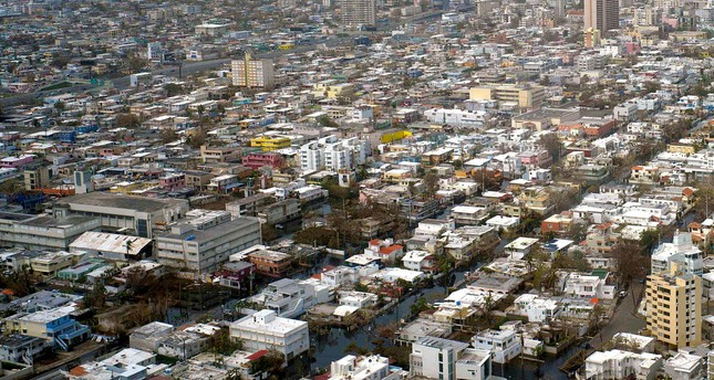 This aerial photo shows parts of San Juan, Puerto Rico, Wednesday, Sept. 27, 2017. (AP Photo)
