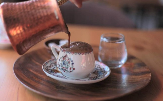 Turkish coffee is cooked in a special coffeepot and best served in a small porcelain cup. File Photo
