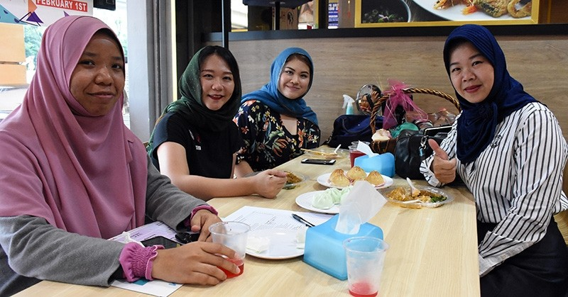 Women in Malaysia mark World Hijab Day with an event on Feb. 1, 2019. (AA Photo)