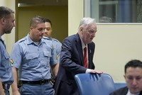 U.N. war crimes judges found Ratko Mladic guilty of genocide and committing war crimes Wednesday, sentencing the former Bosnian Serbian commander to life in prison.