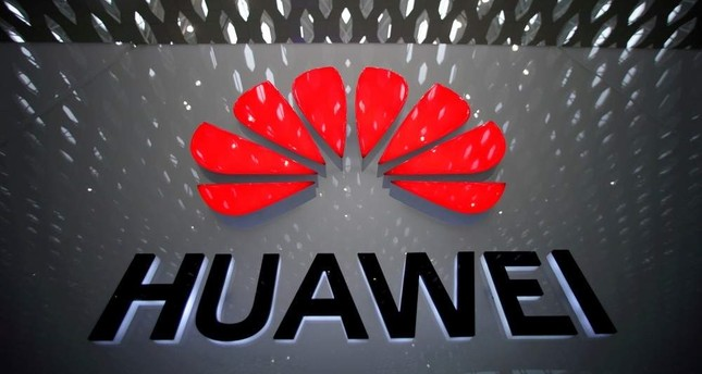 A Huawei company logo is pictured at the Shenzhen International Airport, Guangdong province, China, July 22, 2019. (Reuters Photo)
