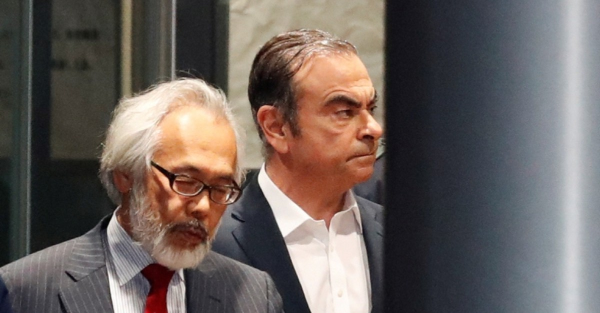 Former Nissan Motor Chariman Carlos Ghosn leaves the Tokyo Detention House in Tokyo, Japan April 25, 2019. (REUTERS Photo)
