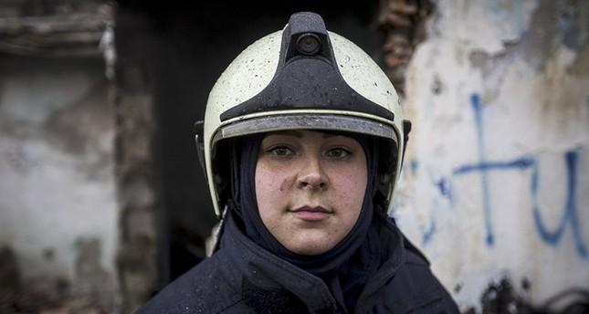 امرأة الإطفاء الوحيدة في أنقرة سلطان أكتاش