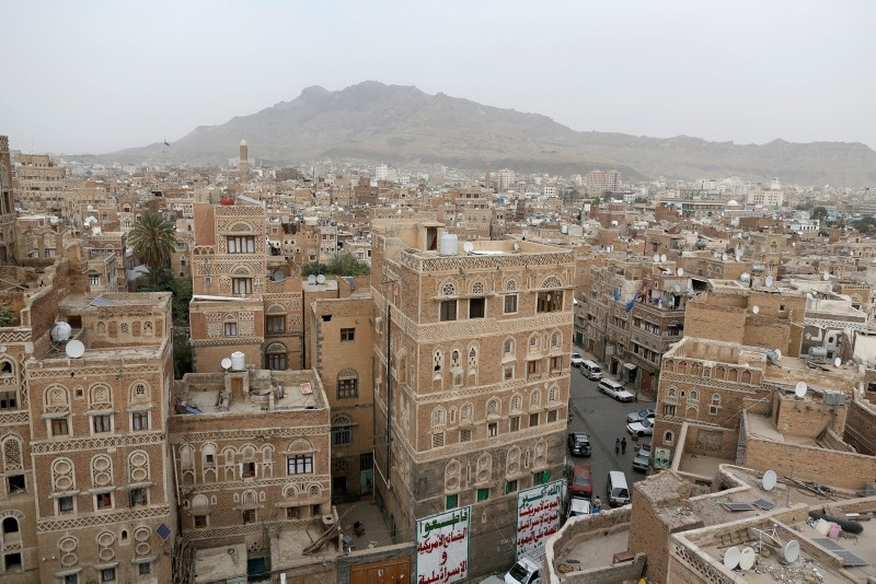 A view of houses built of mud brick in the old quarter of Sanaa, Yemen, July 11, 2018. (Reuters Photo)