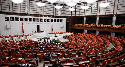 pTurkey's main opposition Republican People's Party (CHP), lawmakers refused to leave parliament early Thursday, in protest of draft bylaw changes under consideration./p