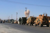 Turkish military convoy headed to Khan Sheikhoun targeted in Idlib by Syria regime bombing