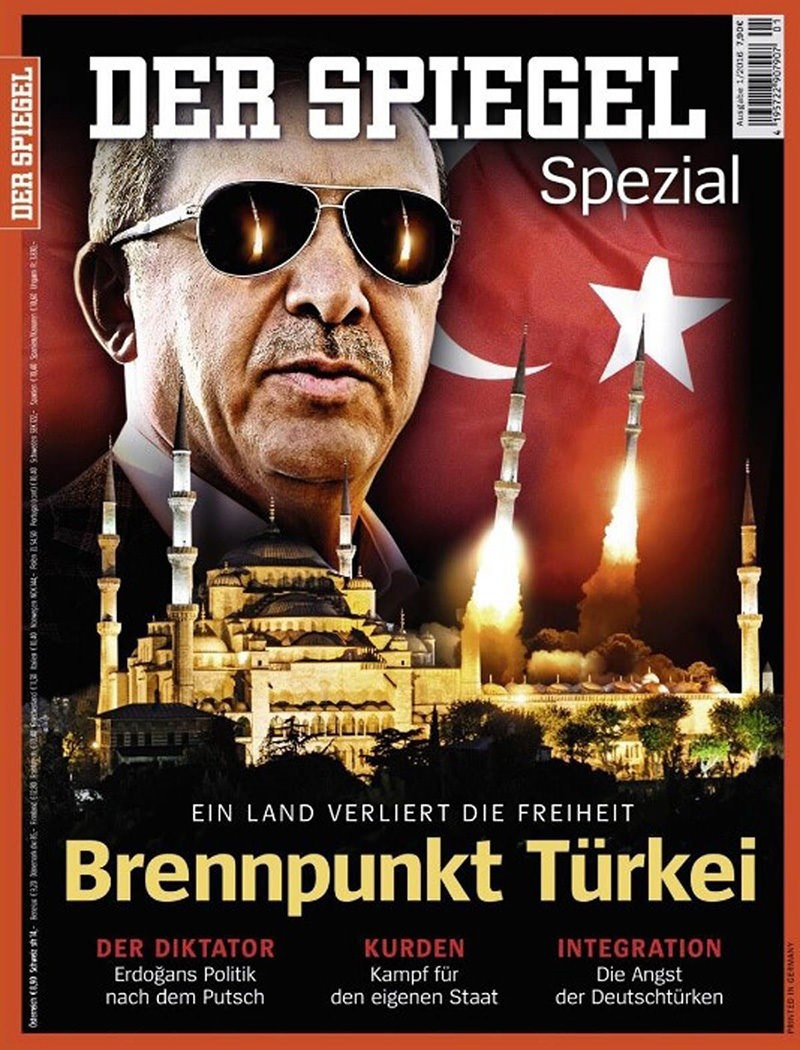 The controversial cover of Der Spiegel's Turkey edition