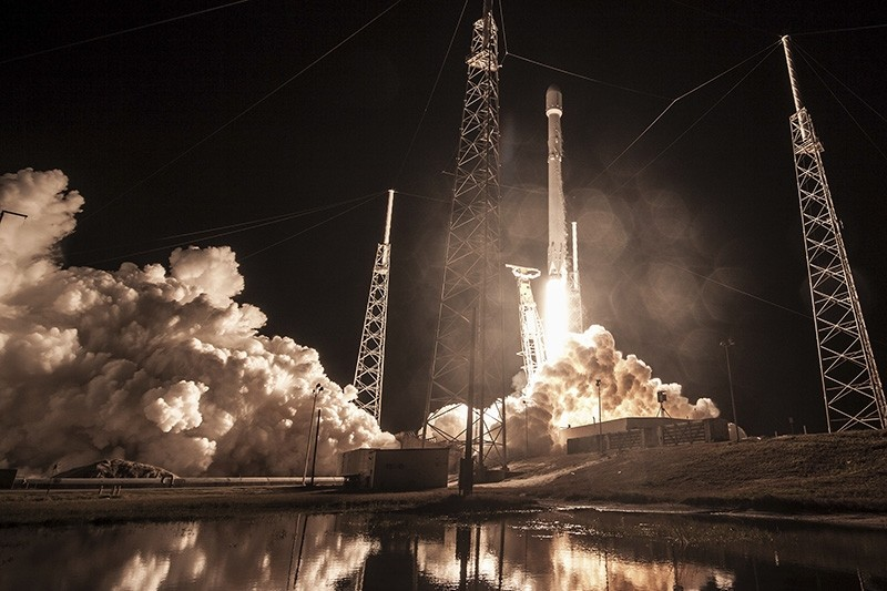 This Sunday, Jan. 7, 2019 photo made available by SpaceX shows the launch of the Falcon 9 rocket at Cape Canaveral, Fla., for the ,Zuma, U.S. satellite mission. (AP Photo)