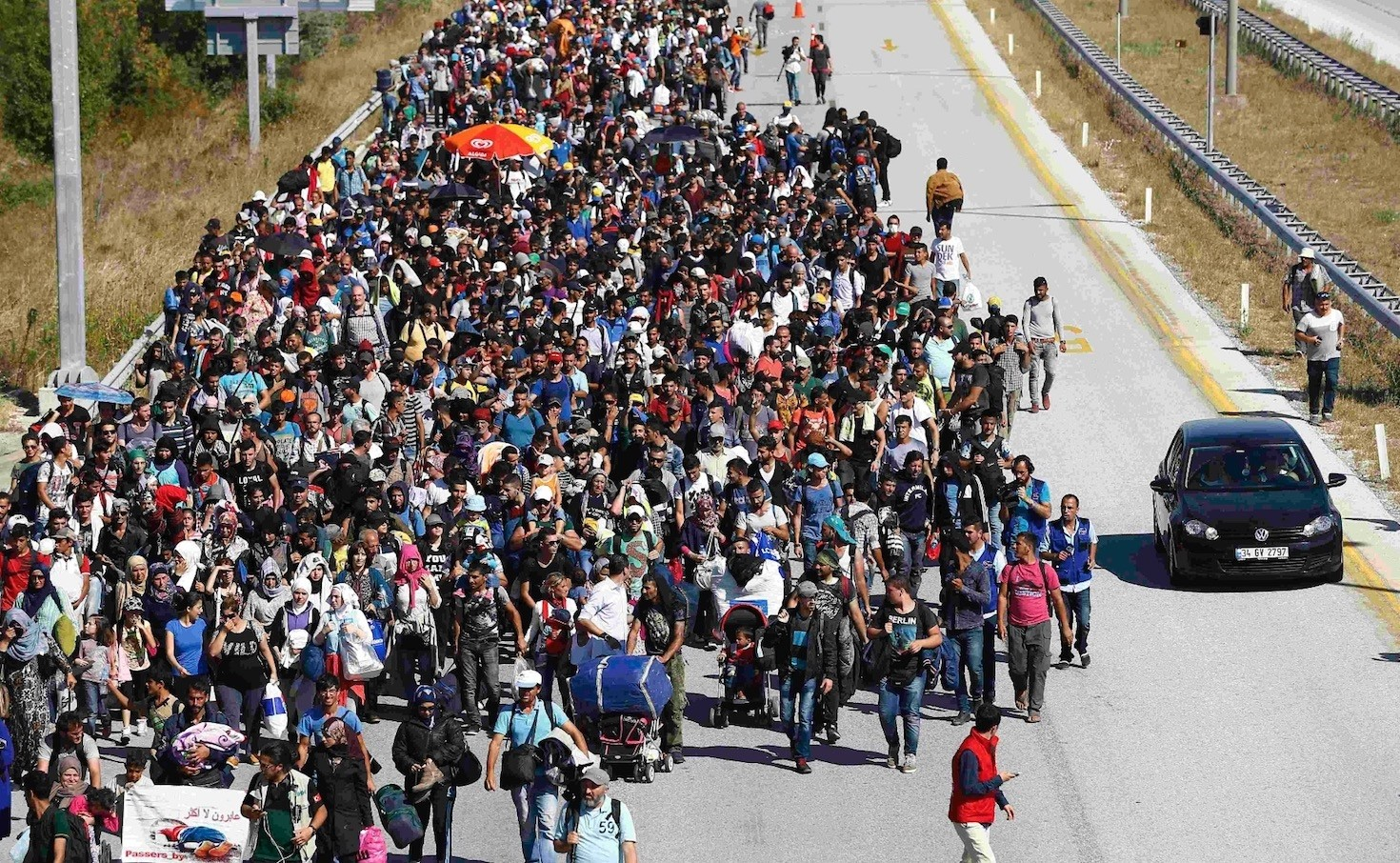 Three years after this mass walk by Syrian migrants to Greece from Turkey, Greece is seeing a renewed rise in the number of migrants using the land border for crossings.