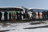 At least eight people, including five Azerbaijani nationals, were killed and at least 28 others were injured as two buses collided in Turkey's eastern Iğdır province on Monday.  The buses, both...