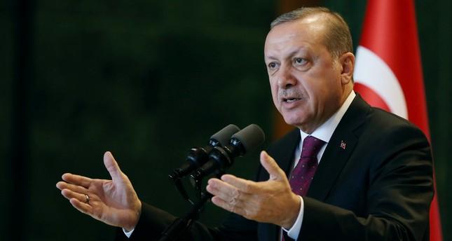 Turkey's President Tayyip Erdoğan addresses district governors at the Presidential Palace in Ankara, Turkey, Jan. 10.
