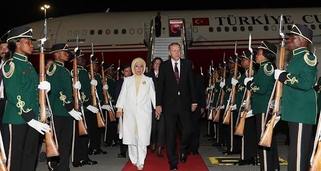 أردوغان يصل جنوب إفريقيا للمشاركة في قمة بريكس