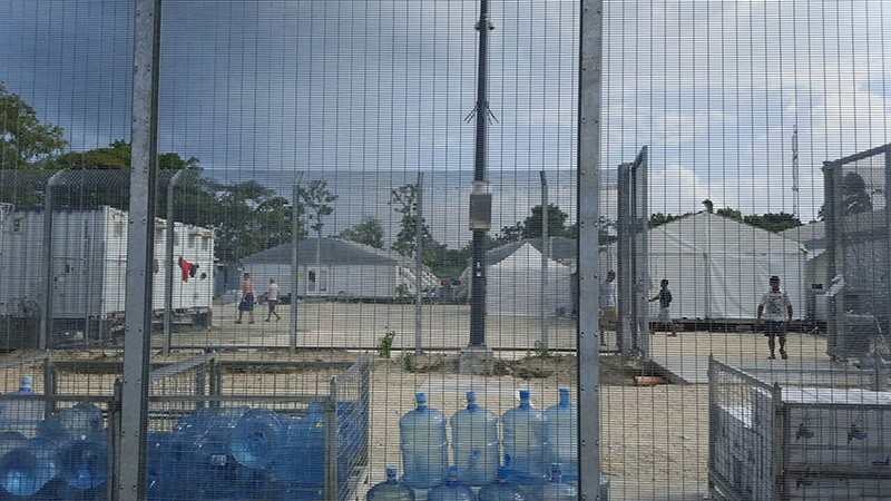 etainees walk around the compound among water bottles inside the Manus Island detention centre in Papua New Guinea, February 11, 2017 (Reuters File Photo)