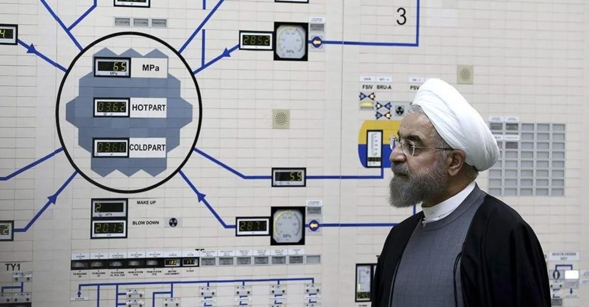 Iranian President Hassan Rouhani visits the Bushehr nuclear power plant, Bushehr, Jan. 13, 2015. (AP Photo)