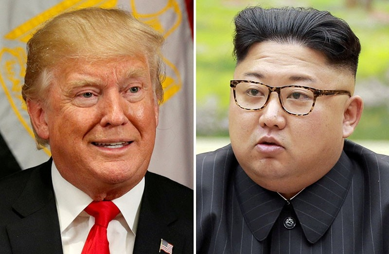 A combination photo shows U.S. President Donald Trump in New York, U.S. September 21, 2017 and North Korean leader Kim Jong Un in this undated photo released by North Korea's Korean Central News Agency (Reuters Photo)