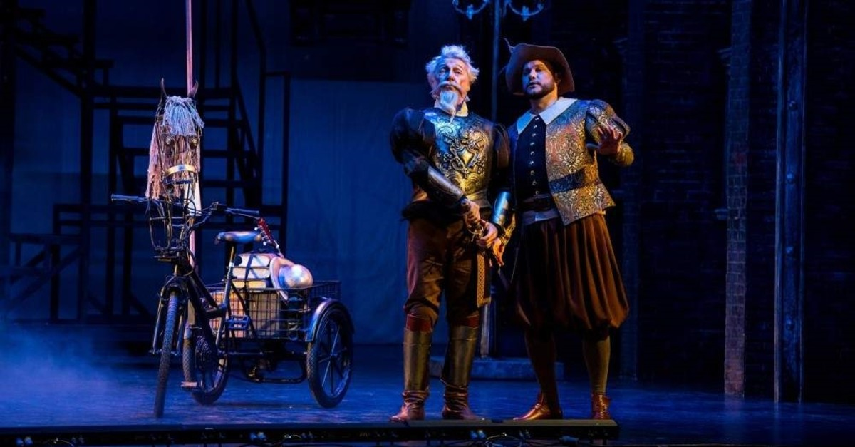 Don Quichotte and his loyal aide Sancho in the opera.