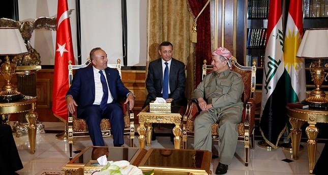 وزير الخارجية التركية يلتقي مسعود برزاني في أربيل