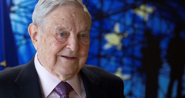 This file photo taken on April 27, 2017 shows US financier-cum-philanthropist George Soros, Founder and Chairman of the Open Society Foundations, arriving for a meeting in Brussels. (AFP Photo)
