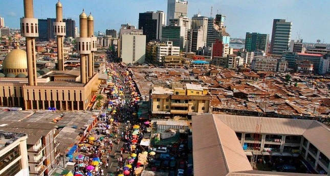 A view of central Lagos.