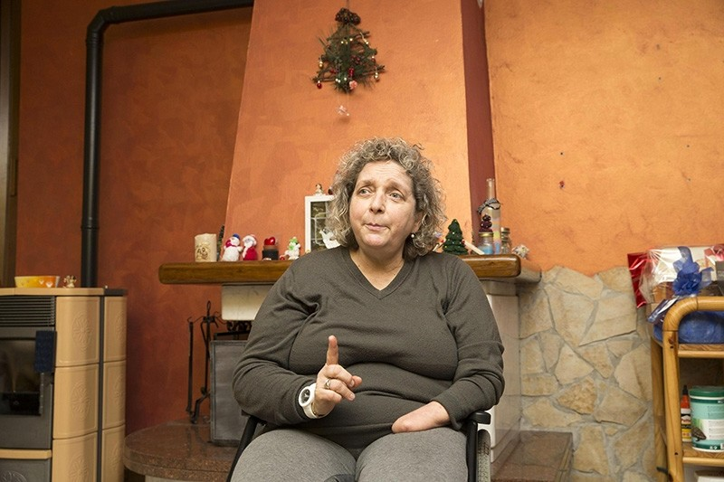 Almerina Mascarello poses for a photo in her home in Montecchio Precalcino, Italy, Jan. 4, 2018. (EPA Photo)