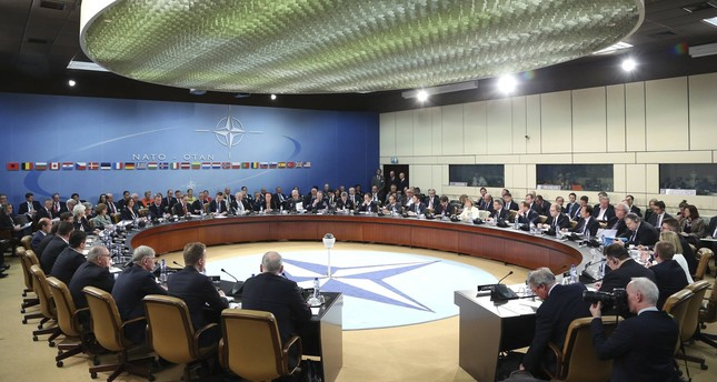 NATO Secretary General Anders Fogh Rasmussen chairs a NATO foreign ministers meeting at the Alliance headquarters in Brussels April 1, 2014 (Reuters Photo)