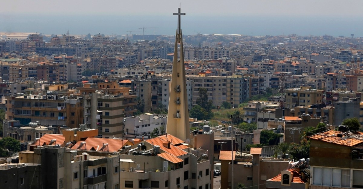 This Monday, June 24, 2019 photo, shows a church in the village of Hadat, where only Christians can rent or buy property, near Beirut, Lebanon. (AP Photo)