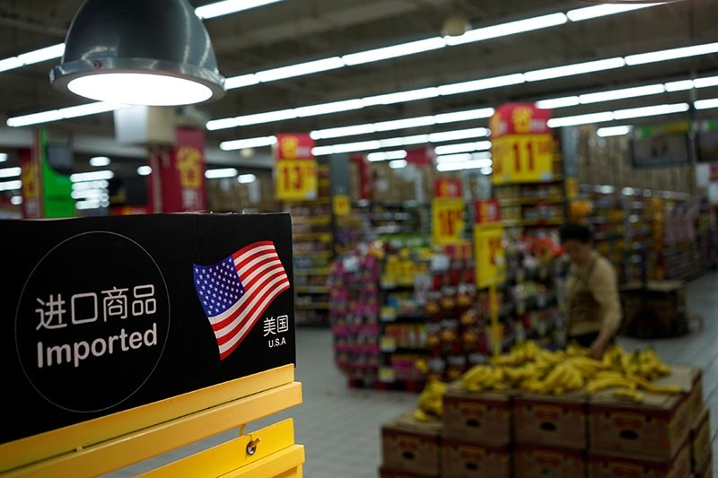 Imports from the U.S. are seen at a supermarket in Shanghai, China April 3, 2018. (Reuters Photo)