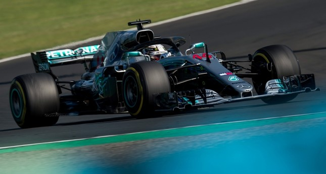 Mercedes driver Lewis Hamilton of Britain in action during the Hungarian Formula One Grand Prix at the Hungaroring circuit, in Mogyorod, northeast of Budapest, Hungary, 29 July 2018. (EPA Photo)