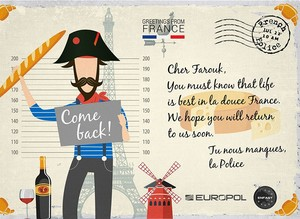 Europol sends out postcards to most wanted criminals