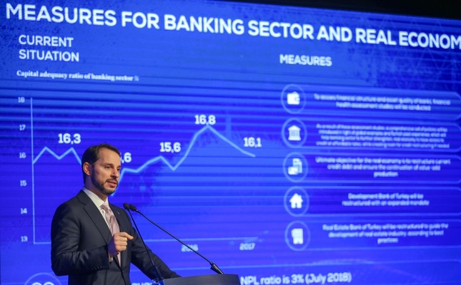 Treasury and Finance Minister Berat Albayrak unveiled the Turkish government's new economic program covering goals and guidelines for the 2019-2021 period, Istanbul, Sept. 20.