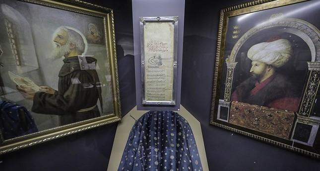 الوثيقة الأصلية لتعهد السلطان محمد الفاتح