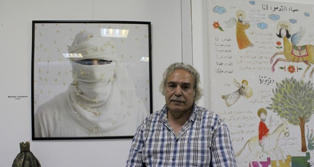 Syrian publisher and collector Adnan Alahmad owns Kelimat Gallery and has continued his works in Istanbul since he came to Turkey in 2012.