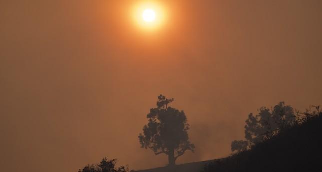 الدخان المتصاعد من الحرائق التي شهدتها الولايات المتحدة الامريكية هذا الصيف الفرنسية