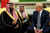 Trump praises Saudi prince, hails US arms sales to kingdom