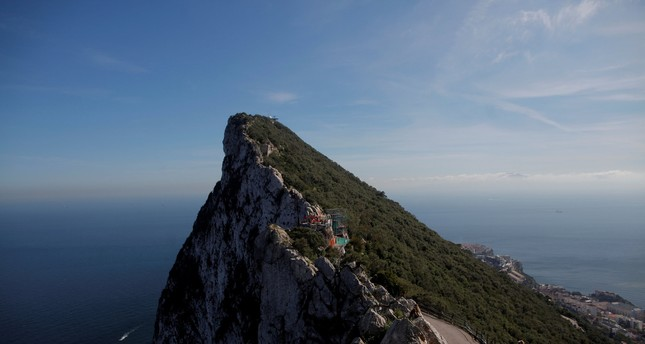 The Rock in the British overseas territory of Gibraltar, historically claimed by Spain, March 29, 2017. (REUTERS Photo)