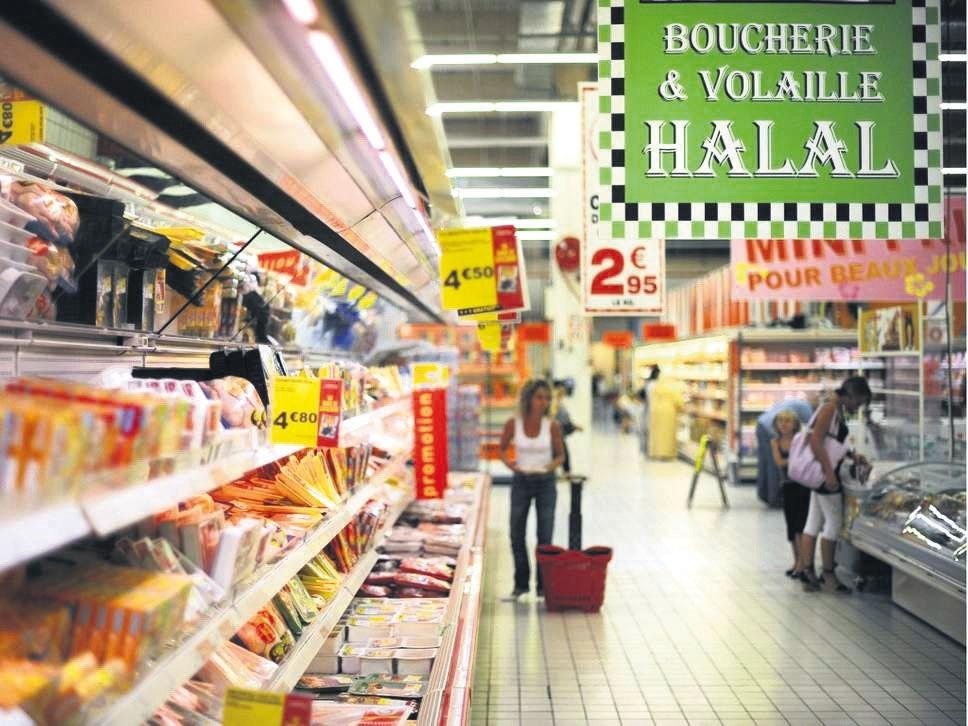 A halal supermarket in Paris, France.
