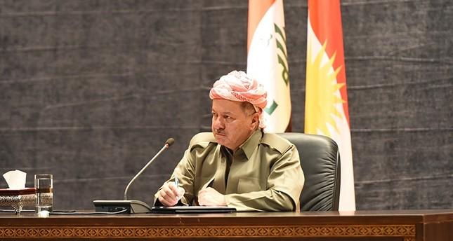 رئيس الإقليم الكردي شمالي العراق، مسعود بارزاني خلال اجتماع مع ممثلي مؤسسات المجتمع المدني في أربيل  (وكالة الأناضول)
