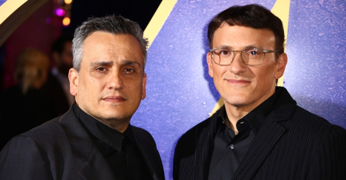 Directors Anthony Russo, right, and Joe Russo pose for photographers upon arrival at the 'Avengers Endgame' fan event in London, Wednesday, April 10, 2019. (AP Photo)