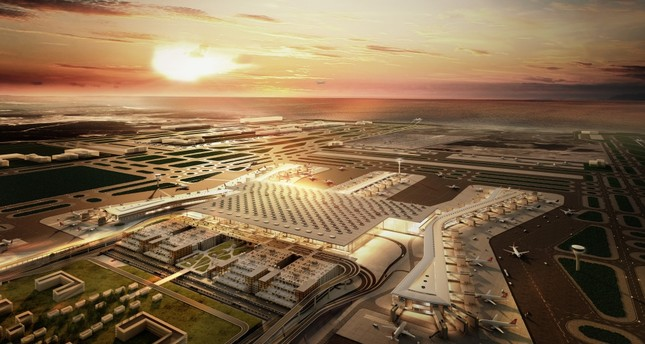 The construction of Istanbul New Airport is almost 50 percent completed and the first phase is expected to be operational by 2018.