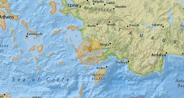 زلزال بقوة 4.9 درجات يضرب مدينة بودروم جنوب غرب تركيا