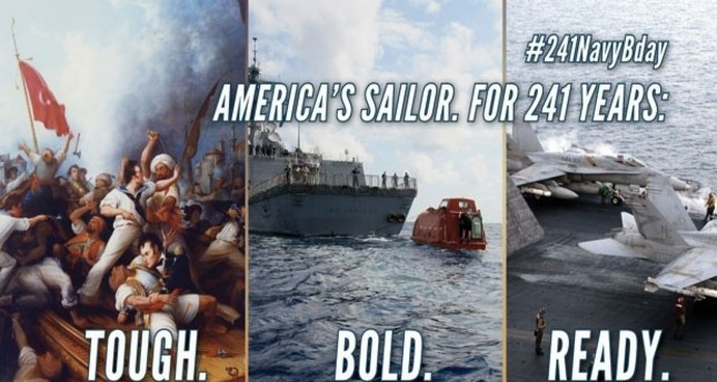 The image shared on the official Twitter account of the U.S. Navy on Thursday.