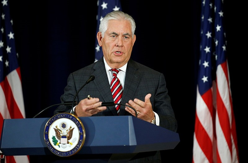 U.S. Secretary of State Rex Tillerson speaks during a press conference after talks with Chinese diplomatic and defense chiefs at the State Department in Washington, U.S. June 21, 2017. (Reuters Photo)