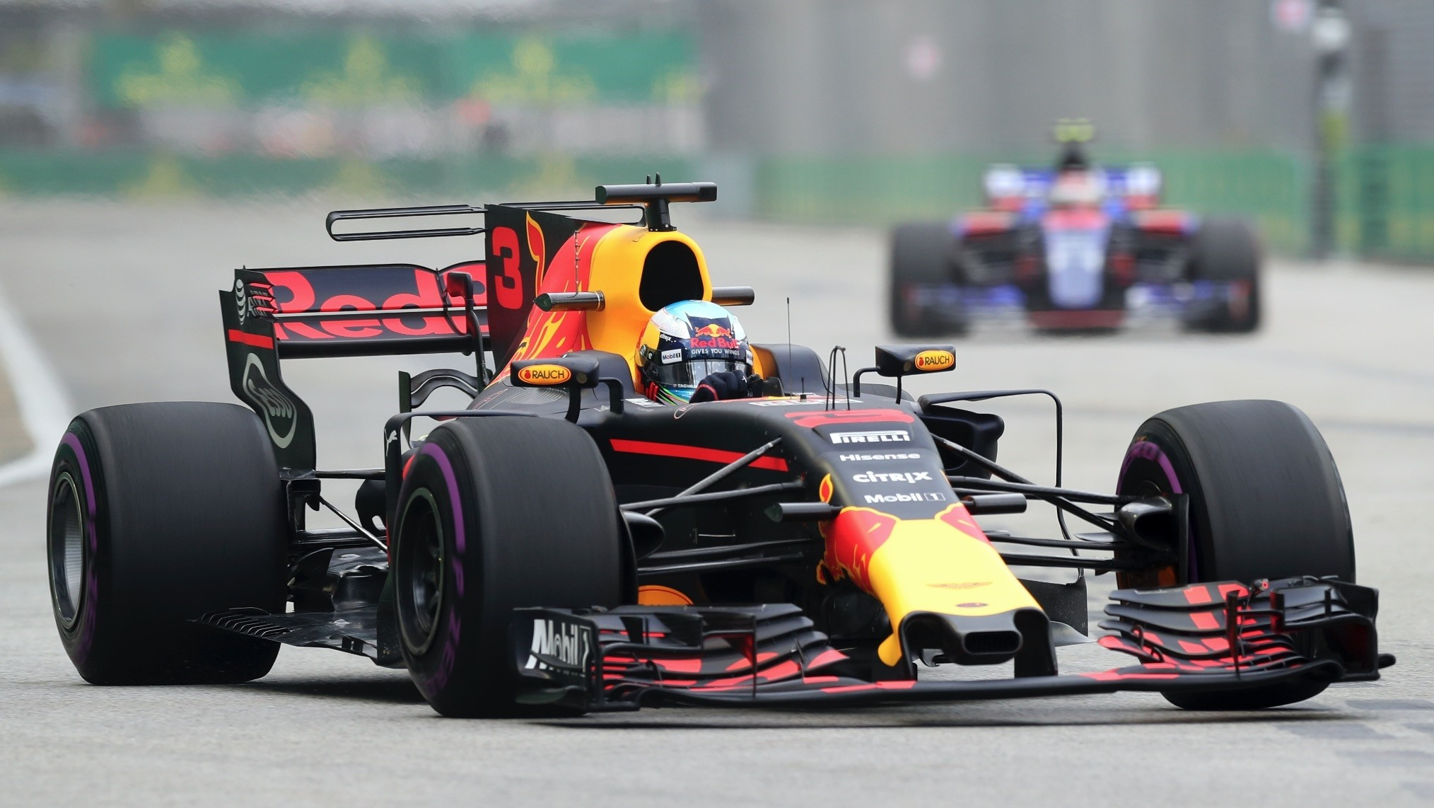 Red Bull driver Daniel Ricciardo crushed his own lap record as he posted the fastest time in the first practice session for the Singapore Grand Prix on Friday.