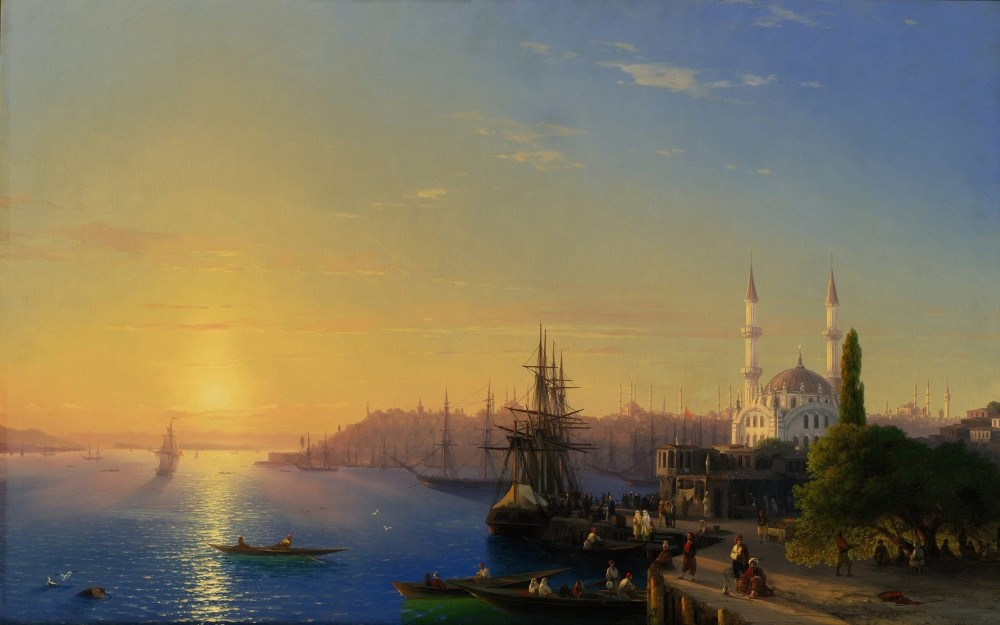 Ivan Aivazovski, u201cIstanbul and the Bosporus Panorama.u201d