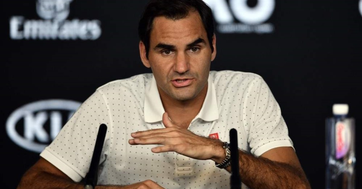 Federer speaks at a press conference ahead of the Australia Open in Melbourne, Jan. 18, 2020. (AFP Photo)