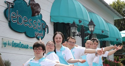 pServing customers with a staff of 10 people with Down syndrome in Istanbul's Üsküdar district, Tebessüm Kahvesi (Smile Coffee) attracts attention thanks to its personnel and cheerful service,...