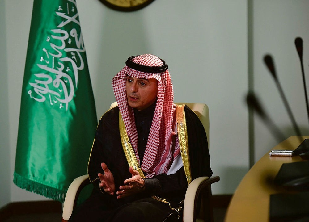 Saudi Minister of Foreign Affairs, Adel al-Jubeir, gives an interview to AFP at his ministry in the capital Riyadh on February 18, 2016. (AFP Photo)
