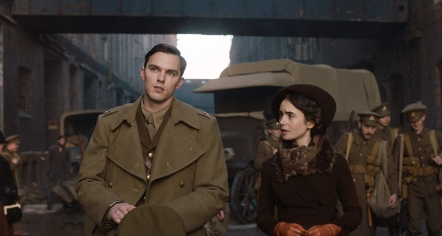 Tolkien and his love of life, Edith, played by Nicholas Hoult and Lilly Collins.