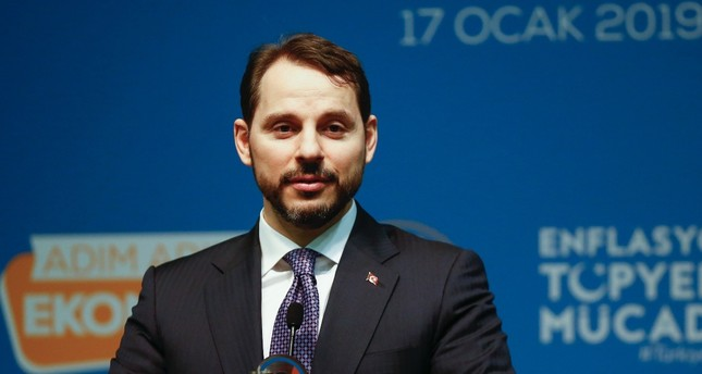 Treasury and Finance Minsiter Berat Albayrak at an event attended by representatives of the Turkish business world in Antalya, Jan. 17.